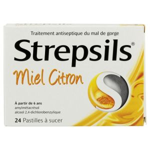 Strepsils Miel Citron Past 24