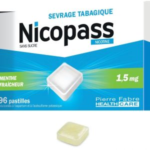 Nicopass 1,5mg S/s Menthe Past