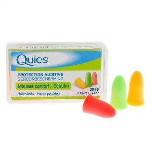 Quies Bouchon Mousse Fluo protection auditive 3 paires