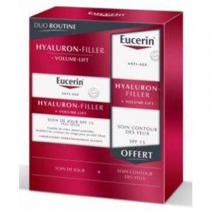 DUO ROUTINE EUCERIN HYALURON-FILLER+ VOLUME LIFT+ SOIN CONTOUR DES YEUX OFFERT